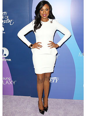 jennifer hudson 2 300x400 This Weeks Best Dressed: Its as Clear as Black and White