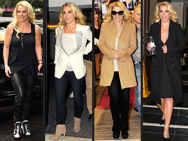 britney spears 1 600x450 Britney Spearss London Tour Wardrobe Gets Points For Style and Consistency