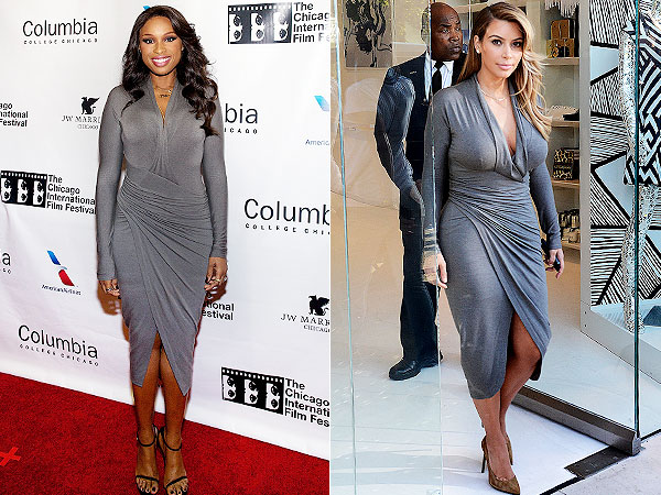 Jennifer Hudson Kim Kardashian same dress
