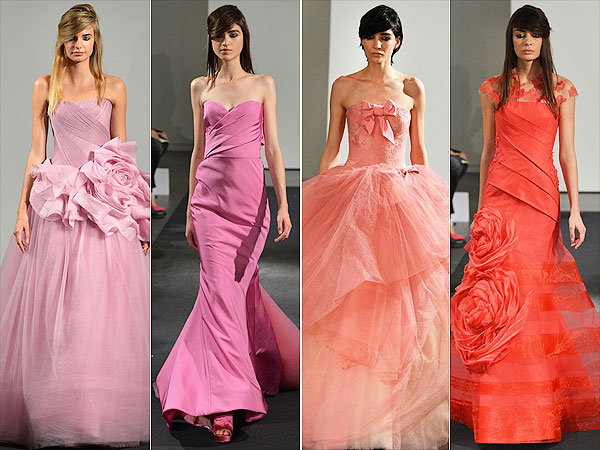 pink dress 600x450 Would You Wear a Pink Wedding Gown? Vera Wang Thinks You Should