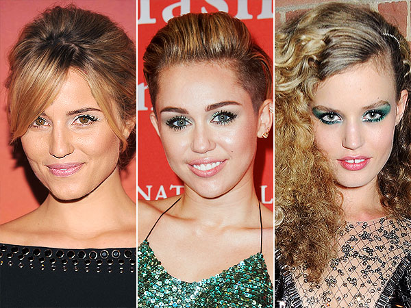 Green eyeshadow celebrities