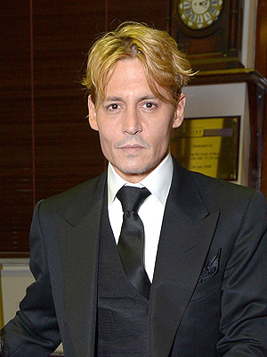 Johnny Depp blonde hair