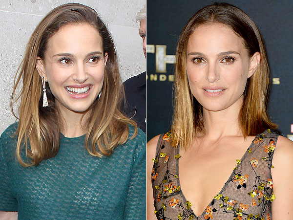 natalie portman 600x450 Natalie Portman Cuts Her Hair   and Goes Ombré While Shes At It