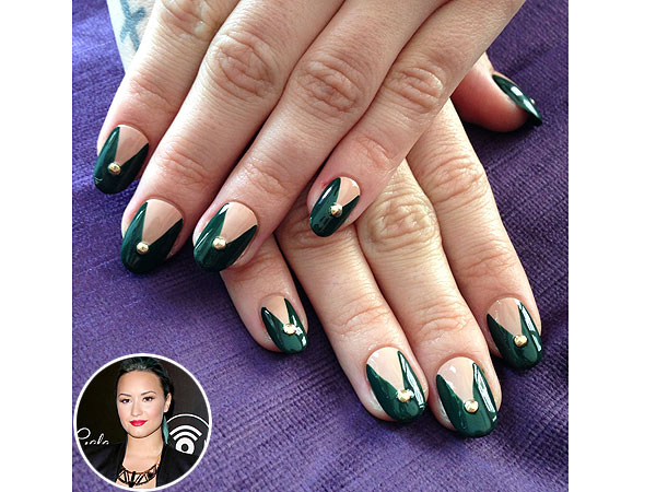 Demi Lovato the New Black nail art