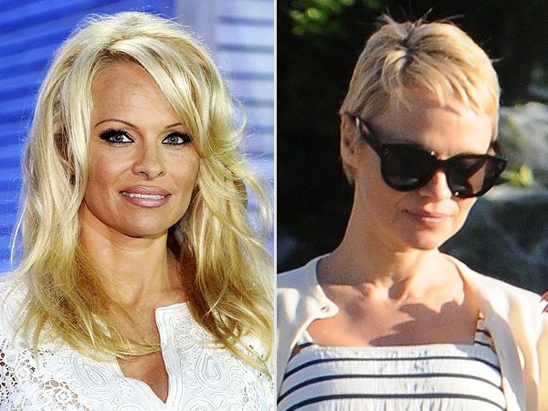 Pamela Anderson short hair
