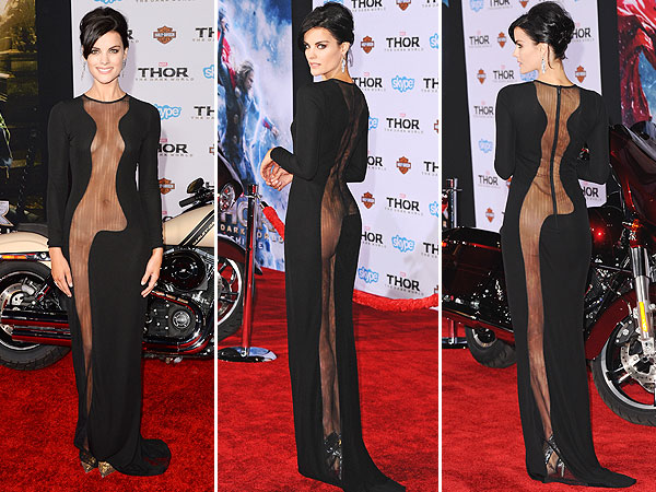 Jaimie Alexander Thor sheer dress