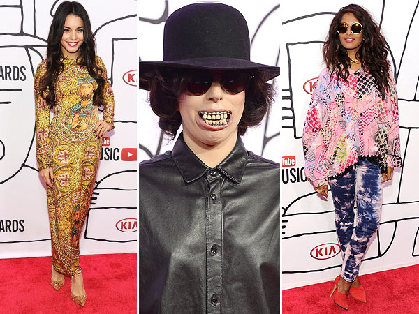Lady Gaga mouthpiece YouTube Music Awards style