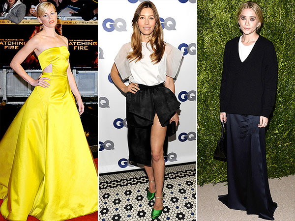 Red carpet trends: high slits, bright colors