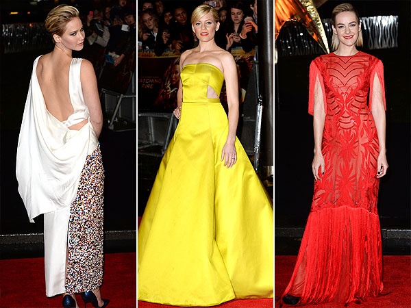 Jennifer Lawrence, Elizabeth Banks, Jena Malone, The Hunger Games