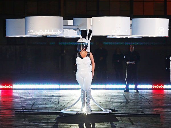 Lady Gaga Flying Dress