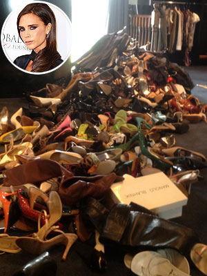 Victoria Beckham shoes donation