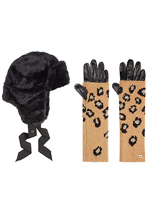 Juicy Couture hat gloves