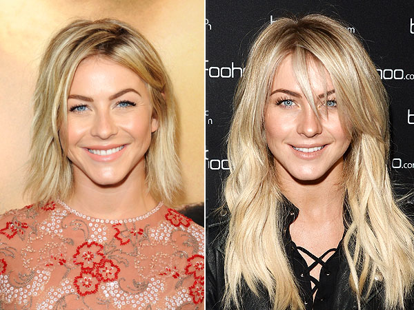 Julianne Hough bangs, extensions