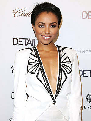 Kat Graham wedding dress