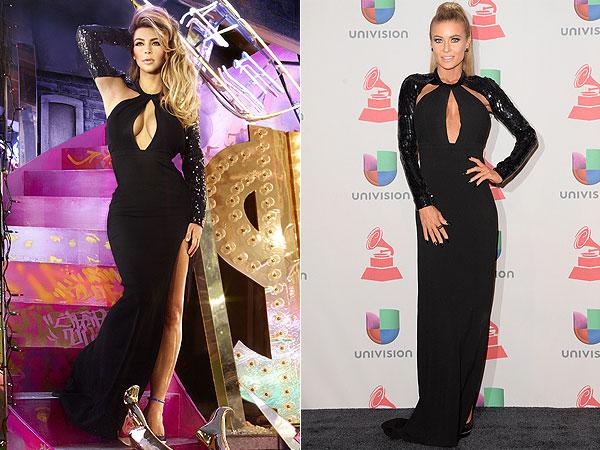 Kim Kardashian, Carmen Electra Saint Laurent gown