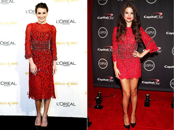 Lea Michele, Selena Gomez fashion faceoff