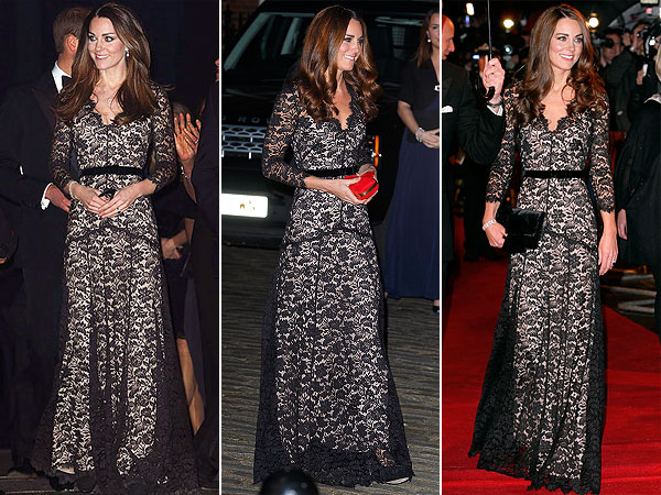 Kate Middleton Alice by Temperley lace gown