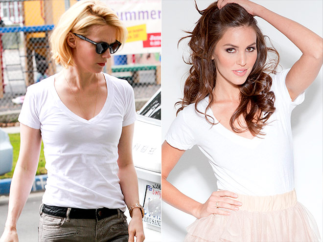 20% OFF OF NATION LTD WHITE V-NECK photo | January Jones