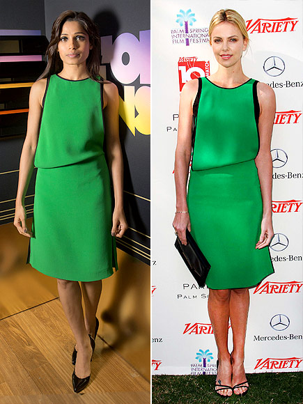 FREIDA VS. CHARLIZE  photo | Charlize Theron, Freida Pinto
