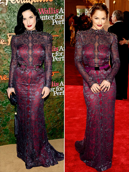 DITA VS. MINKA   photo | Dita Von Teese, Minka Kelly