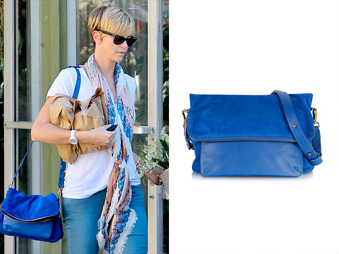 GERARD DAREL 'SANTIAGO MAYFAIR' CROSS-BODY photo | Charlize Theron