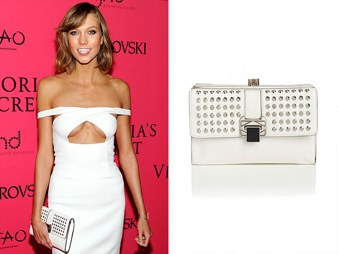 REBECCA MINKOFF 'COCO' CLUTCH photo | Karlie Kloss