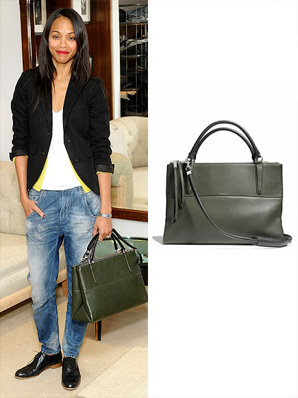 COACH PEBBLED 'BOROUGH' BAG photo | Zoe Saldana