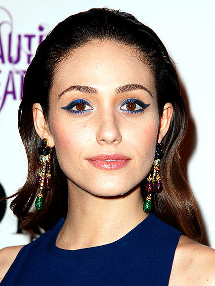 EMMY'S EXTREME LINER & SLICKED-BACK HAIR  photo | Emmy Rossum