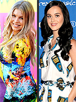Are Those Cell Phones On Your Dress? | Fergie, Katy Perry