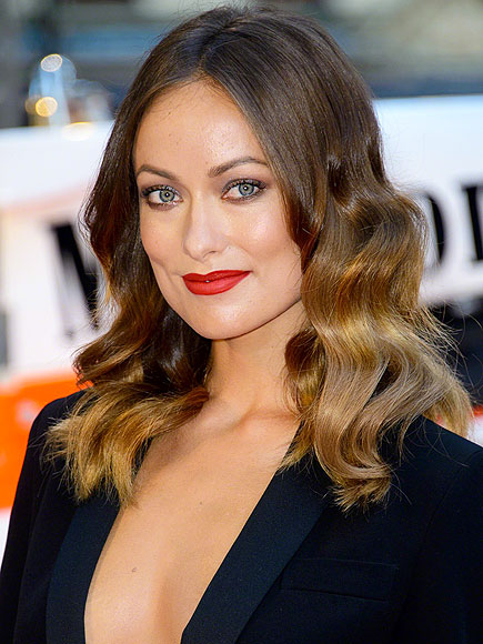 RED LIPS  photo | Olivia Wilde