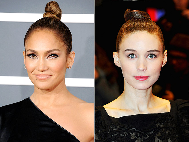 SLEEK TOPKNOT photo | Jennifer Lopez, Rooney Mara