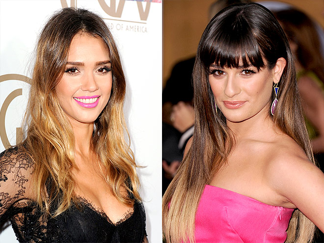 EXTREME OMBRÉ photo | Jessica Alba, Lea Michele