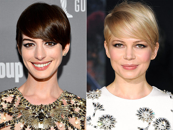SIDESWEPT PIXIE photo | Anne Hathaway, Michelle Williams