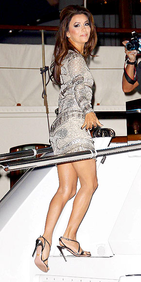 EVA LONGORIA: <br   />ON A YACHT