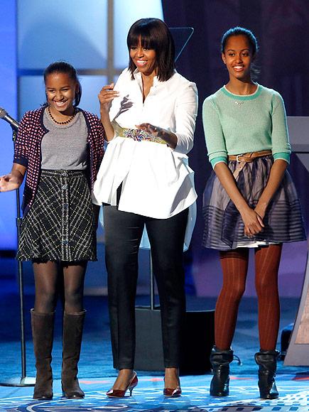 KID ROCK photo | Malia Obama, Michelle Obama, Sasha Obama