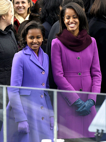 ROYAL PURPLE photo | Malia Obama, Sasha Obama