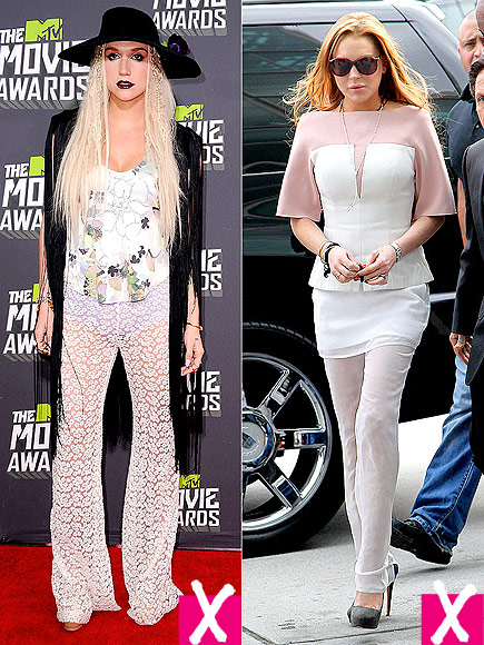 PLEASE DON'T WEAR SHEER PANTS photo | Kesha, Lindsay Lohan
