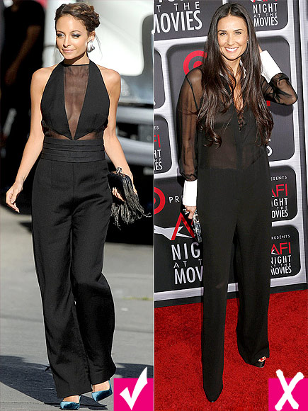 CHOOSE FORMFITTING OVER BAGGY photo | Demi Moore, Nicole Richie