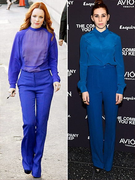 MONOCHROMATIC OUTFITS photo | Rachel McAdams, Zosia Mamet