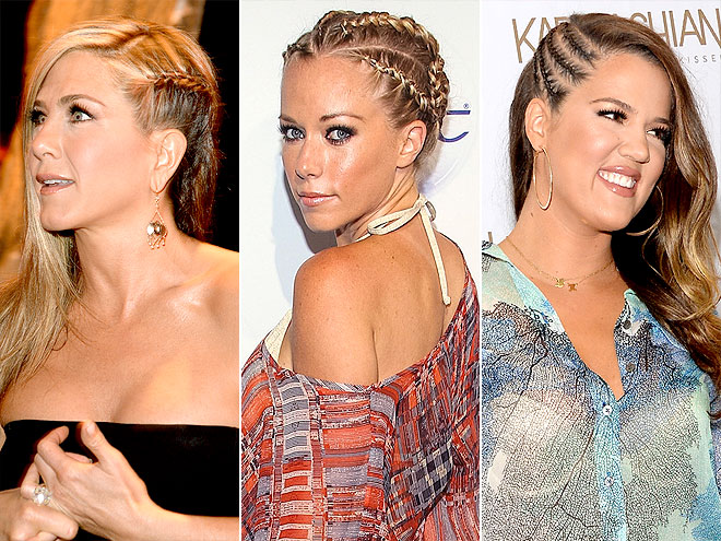 THE ACCENT BRAID photo | Jennifer Aniston, Kendra Wilkinson, Khloe Kardashian