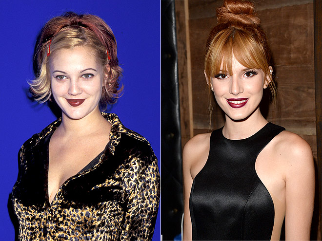 RED-BROWN LIPS photo | Bella Thorne, Drew Barrymore