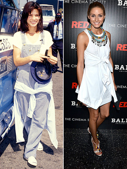 WHITE SHIRTS AROUND THE WAIST photo | Olivia Palermo, Sandra Bullock
