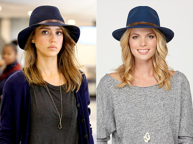 A WIDE-BRIM FELT HAT photo | Jessica Alba