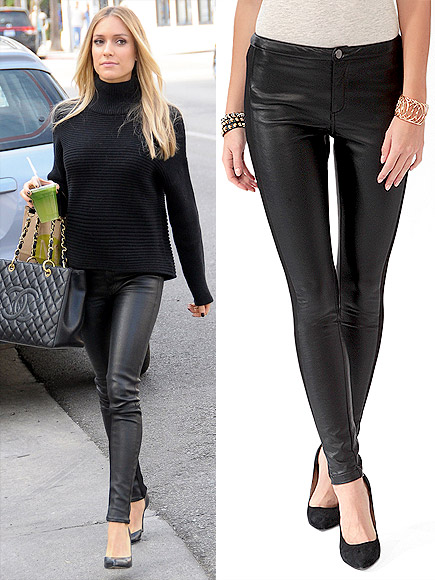 LEATHER SKINNIES photo | Kristin Cavallari