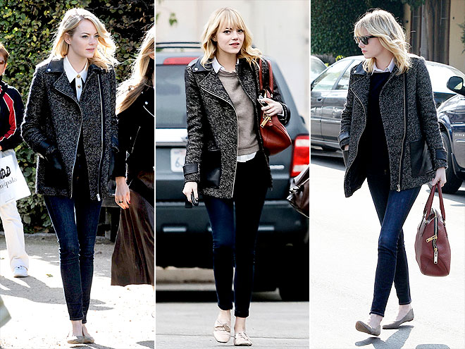 MAJE JACKET photo | Emma Stone