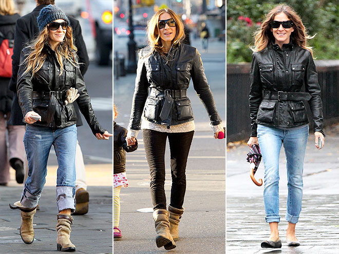 BELSTAFF LEATHER JACKET photo | Sarah Jessica Parker