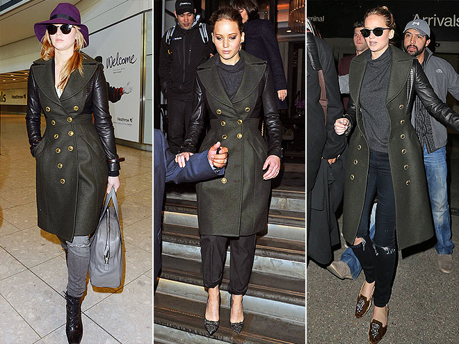 BURBERRY COAT photo | Jennifer Lawrence