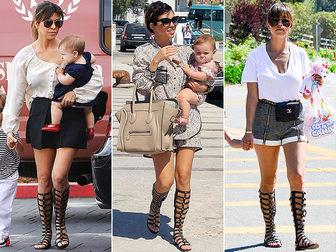 STUART WEITZMAN GLADIATORS photo | Kourtney Kardashian