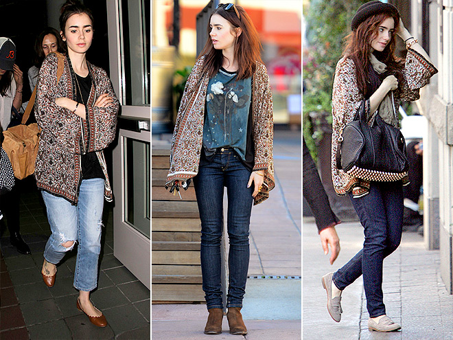 TOLANI CARDIGAN photo | Lily Collins