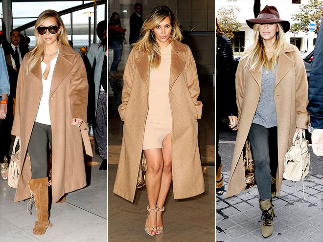MAX MARA COAT  photo | Kim Kardashian